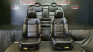 2013 Cadillac Ats Front Rear Power Leatherette Seats Black Trim Code H2g