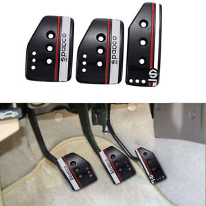 Universal Car Clutch Brake Foot Pedals Cover Treadle Non Slip Pedal Pads Manual