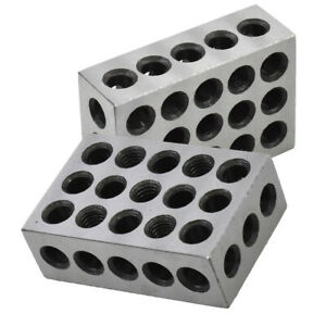 Ultra Precision 1 Matched Pair 1 2 3 Blocks 23 Holes 0002 Machinist 123