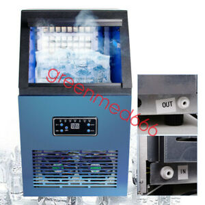 Usa Portable Ice Maker Commercial Built in Auto Ice Cube Stainless Steel Machine