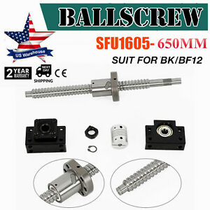 Anti backlash Ball Screw Sfu1605 L650mm bk bf12 End Support 6 35 10mm Coupling