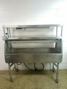 Hatco Glo ray Custom Stainless Steel Pass Thru Sandwich Pizza Food Warmer Tested