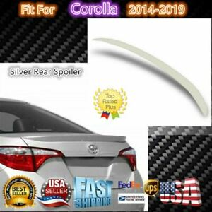 For 2014 2019 Toyota Corolla Oe Factory Style Silver Rear Wing Spoiler