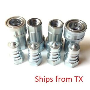 1 4 Quick Disconnect Coupling Coupler Iso 7241 1 Series A Npt Set Of 4