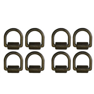 8 Black Weld On 1 D Ring W Brkt Clip Trailer Tow Truck Towing Chain Tie Down