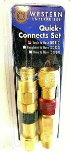 Western Enterprises Quick Connect Set Qdb10 Torch To Hose Connector Usa Made