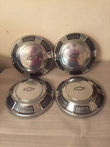 A Set Of 4 Vintage 1960 S 1970 S Chevy Chevrolet 10 1 2 Hubcaps Wheel Covers