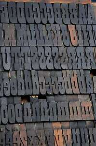 Letterpress Wood Printing Blocks 146pcs 2 83 Tall Alphabet Wooden Type Woodtype