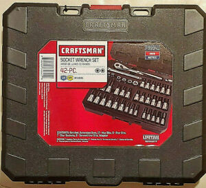 Craftsman 42 Pc 1 4 3 8 Drive Hex Screwdriver Torx Bit Socket Wrench Set