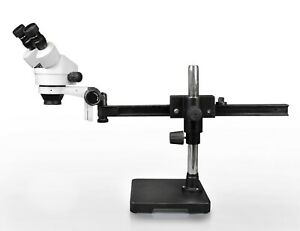 Vision 7x 45x Binocular Zoom Stereo Microscope With Gliding Arm Boom Stand