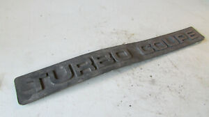 1 Ford Thunderbird Turbo Coupe Door Side Trim Emblem