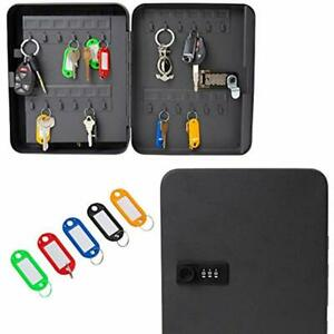 Houseables Key Lock Box Lockbox Cabinet Wall Mount Safe 8 10 L 48 Tags For