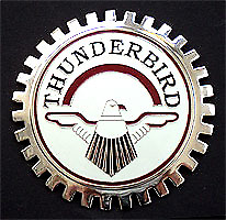 New Vintage Thunderbird Grill Grille Badge Chromed Brass Great Gift Item Fits 1955 Ford