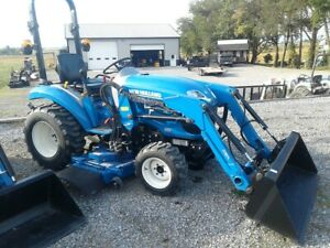 2017 New Holland Boomer 24 Compact Tractor W Loader Mower 9 7 Hrs Hydro