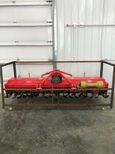 Extra Heavy Duty 3 Point 10 Ft Rotary Tiller Tractor Tiller Red Color