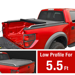 Premium Low Profile Roll Up Tonneau Cover Fits 2009 2019 Ford F 150 5