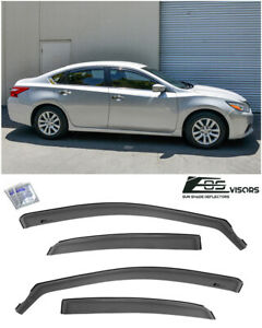 For 13 18 Nissan Altima In channel Smoke Tinted Side Window Visors Deflectors