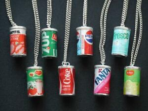 COCA COLA 7UP PEPSI FANTA AND OTHERS MINIATURE CAN NECKLACE 8 SET LIMITED *EX*