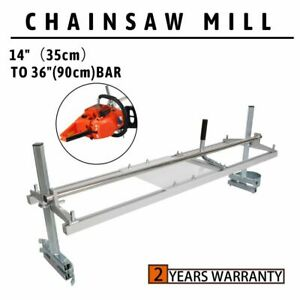 Portable Chainsaw Mill 36 Inch Planking Milling 14 To 36 Guide Bar Aluminum