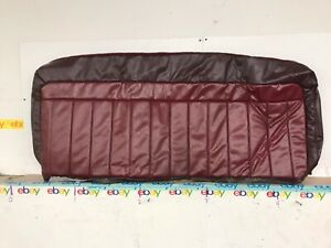 Nos 1988 1994 Chevy C K Truck Bench Upper Back Seat Cover Dark Red Nice 15576628