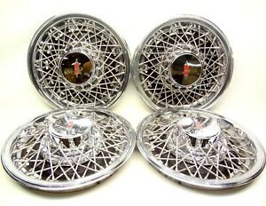 Oldsmobile 1980 S Wire Wheel Style 15 Hubcaps Wheel Covers Hub Caps Olds 98 88