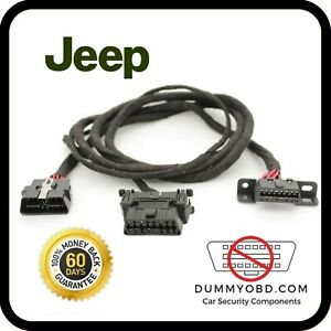 Jeep Obd Port Relocation Extension Diagnostic Cable With Dummy Obd Installed