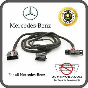Mercedes Benz Obd Port Relocation Extension Diagnostic Cable With Dummy Obd