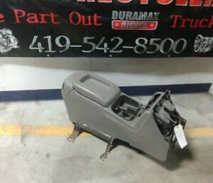03 04 05 06 07 Pewter Hard Center Console Chevy Silverado Gmc Sierra 2500 3500
