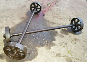Maytag Small Engine Truck Cart 4 Wheels Axle Hit Miss Engine