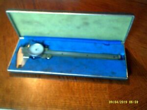 Vintage Central Tools Micrometer Caliber With Gauge And Case Japan