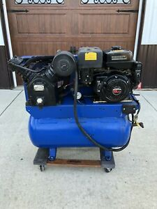 Ingersoll Rand 13 Hp Two Stage Gas Engine Air Compressor 30 Gal