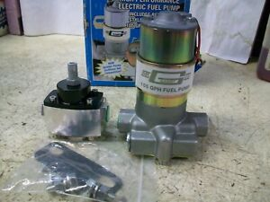 Mr Gasket Electric Fuel Pump 105p With Regulator Like Holley Blue Pump