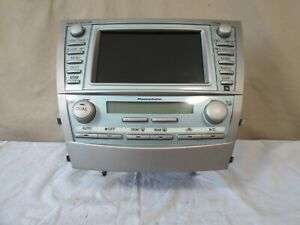 07 08 09 Toyota Camry Radio Cd Mp3 Player Ac Climate Navi Screen E7011 Oem Jbl