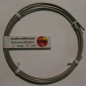Nichrome 80 Resistance Wire 11 Awg gauge 5 Feet