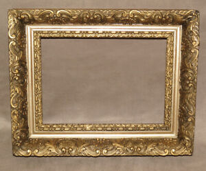 Fancy Scroll Antique Gold Mirror Or Picture Frame 1880 S 13 1 2 By 10 7 8