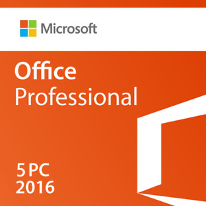 Microsoft Office Professional 2016 5 Pc retail Sealed