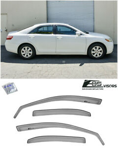 For 07 11 Toyota Camry In Channel Style Side Window Sun Shade Rain Deflectors
