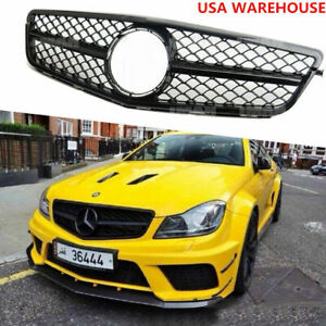 C63 Amg Style Grill For Mercedes Benz W204 Grille C180 C250 C300 C350 2008 13