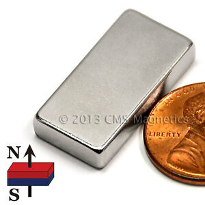 Cms Magnetics Neodymium Magnet Block N52 1x1 2x3 16 Ndfeb Rare Earth Magnets