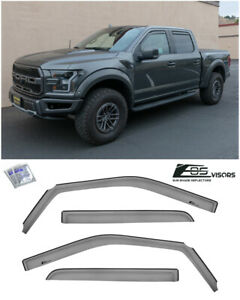 Eos Visors For 15 19 Ford F 150 Crew Cab In channel Side Window Rain Guards
