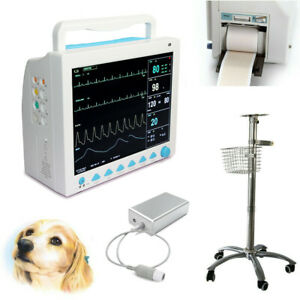 Icu Animal Veterinary Vital Signs Patient Monitor capnograph Etco2 stand printer