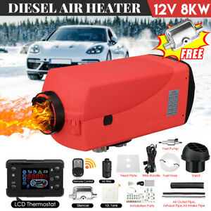 8kw 12v Air Diesel Heater Fuel Pump Lcd Switch Remote Control For Truck Boat Car