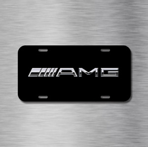 Amg Sports Car Vehicle License Plate Auto Car New