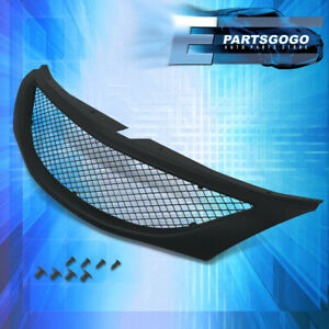 For 08 10 Subaru Wrx 4dr Front Bumper Racing Sport Badgeless Mesh Grille Abs Blk
