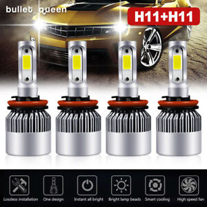 4x H11 Led Headlight Kits Bulbs Fit Chrysler Town Country 2016 2010 Hi Lo Beam