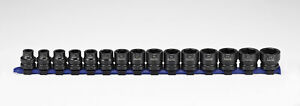 Carlyle Tools By Napa 61 0215ms 15pc 1 2 Dr Stubby Impact Socket Set 10 24mm