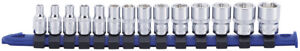 Carlyle Tools By Napa Ss14014m 14 Pc 1 4in Dr 6 Pt Socket Set Metric 4 15mm