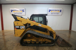 2017 Cat 299d2 Cab Skid Steer Track Loader 106 Hp Ac heat 2 speed