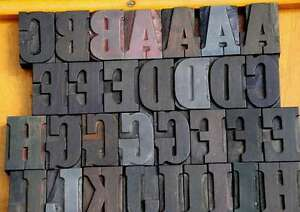 Letterpress Wood Printing Blocks 56 Pcs 1 93 Tall Alphabet Type Woodtype Abc