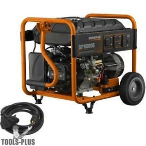 Generac 6931 Portable Generator Gp8000e Electric Start 50 States Carb Cord New
